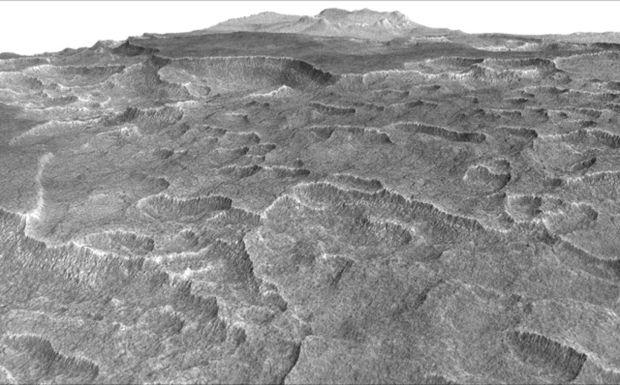 НаМарсе найдена замороженная вода