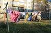 В московских дворах оборудуют сушки для белья