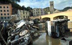 Место наводнения в Италии