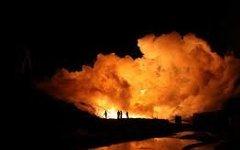 Пожар в порту Архангельска