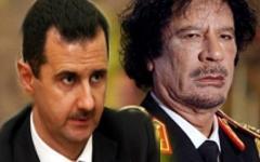 Башар Асад и Муаммар Каддафи. Коллаж © KM.RU