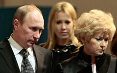 В.Путин, К.Собчак и Л.Нарусова © РИА Новости, Алексей Даничев