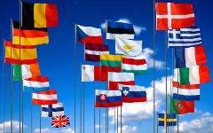 Флаги государств ЕС. Фото с сайта uworkers.org