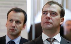 А.Дворкович и Д.Медведев © РИА Новости, Дмитрий Астахов