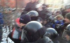 Задержания на Лубянке. Фото из Твиттера @toniasamsonova
