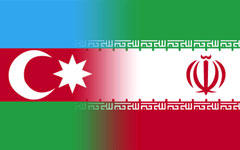 Флаги Азербайджана и Ирана