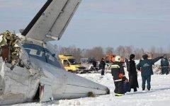 Разбившийся самолет; фото ГУ МЧС по Тюменской области