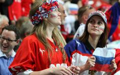 Болельщицы сборной России © РИА Новости, Михаил Фомичев