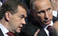 Дмитрий Медведев и Владимир Путин. Фото © РИА Новости, Екатерина Штукина