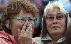 Родственники погибших; фото с alfotoru.com
