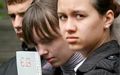 Ученики перед сдачей Единого госэкзамена © РИА Новости, Максим Богодвид