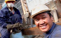 Китайские рабочие на российском предприятии © РИА Новости, Виталий Аньков