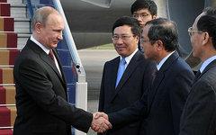 Прибытие Владимира Путина в Ханой. Фото с сайта kremlin.ru