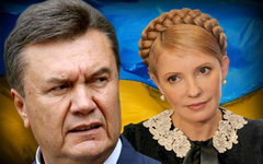 Виктор Янукович и Юлия Тимошенко. Коллаж © KM.RU