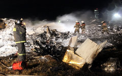 Место крушения Boeing 737 в Казани. Фото с сайта mchs.gov.ru