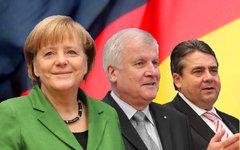 Ангела Меркель, Хорст Зеехофер и Зигмар Габриэль. Коллаж © KM.RU