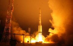 Запуск ракеты «Протон» со спутником на борту. Фото с сайта federalspace.ru