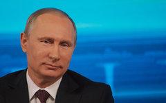Владимир Путин на пресс-конференции 19 декабря © KM.RU, Филипп Киреев