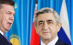 Виктор Янукович и Серж Саргсян. Коллаж © KM.RU