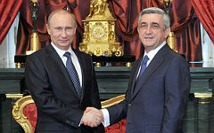 Владимир Путин и Серж Саргсян. Фото с сайта kremlin.ru