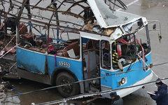 Взорванный троллейбус в Волгограде © РИА Новости
