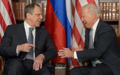 Сергей Лавров и Джон Байден © РИА Новости, Эдуард Песов