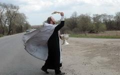 Освящение дороги. Фото с сайта sibdepo.ru