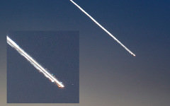 Метеорит над Приморьем. Фото пользователя ЖЖ cheslav