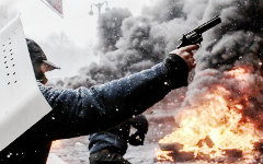 Беспорядки в центре Киева © РИА Новости, Андрей Стенин