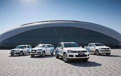 Олимпийские автомобили. Фото VW