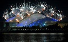 Салют во время церемонии открытия Игр в Сочи © РИА Новости, Алексей Даничев