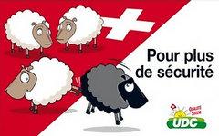 Предвыборный баннер Швейцарской народной партии