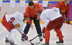 Сборная России по хоккею на тренировке © РИА Новости, Алексей Куденко