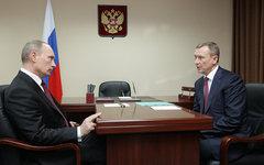 Владимир Путин и Николай Денин © РИА Новости, Алексей Дружинин
