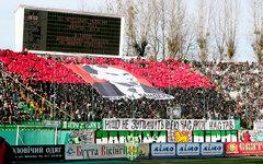 Трибуна ФК «Карпаты». Матч с «Шахтером» 2011 год. Фото с сайта fckarpaty.lviv.ua