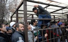 Очередь мигрантов в отделение УФМС РФ по Москве © РИА Новости, Максим Блинов