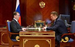 Дмитрий Медведев и Алексей Миллер. Фото с сайта government.ru