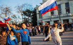 Митинг в поддержку России в Евпатории © РИА Новости, Андрей Стенин