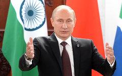 Владимир Путин на встрече глав делегаций стран-участниц БРИКС © РИА Новости, Але