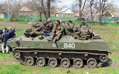 Украинские десантники на Юго-Востоке. Фото alexeyladyka с сервиса «Яндекс.Фотки»