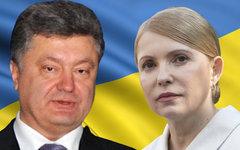 Петр Порошенко и Юлия Тимошенко. Коллаж © KM.RU