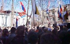 Митинг в Харькове. Кадр из видео пользователя YouTube siyanienebes