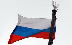 Российский триколор на здании ОГА в Луганске © РИА Новости, Виталий Белоусов
