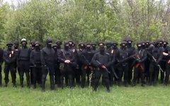 Боевики «Правого сектора». Стоп-кадр с видео в YouTube