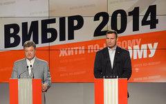 Петр Порошенко и Виталий Кличко © РИА Новости, Михаил Воскресенский