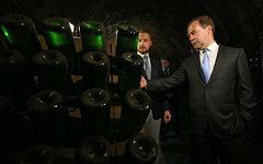 Дмитрий Медведев в винном погребе © РИА Новости, Екатерина Штукина