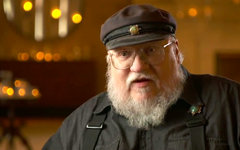 Джордж П.П. Мартин. Кадр из видео Game of Thrones в YouTube