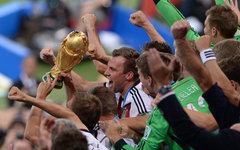 Игроки сборной Германии во время церемонии награждения © РИА Новости, Алексей Фи