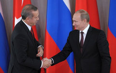 Реджеп Тайип Эрдоган и Владимир Путин. Фото с сайта kremlin.ru
