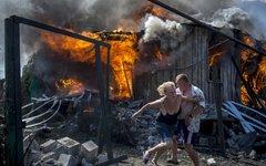 Последствия авиаудара по станице Луганская © РИА Новости, Валерий Мельников